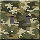 Light Switch Plate Cover - Camouflage design - Hunter huntsman sport war army