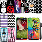 For LG G2 VS980 Verizon Colorful PATTERN HARD Case Cover Phone Accessory + Pen