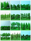 "10PCS MODEL TRAIN RAILWAY SCENERY LANDSCAPE FLOWER\TREE SET 2""-5.5"" HO OO GAUGE"