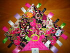 NWT Handcrafted Pretty in Pink Taggie Blanket w/ PACIFIER holder (13x13)