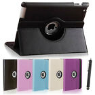 Leather 360 Degree Rotating Smart Stand Case Cover For New iPad 4 3 2 UK