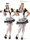 Size 6-22 Ladies Dark Alice Costume + Stockings Fancy Dress Womens Halloween