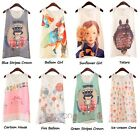 2014 NEW Women O-Neck Cartoon Print Sleeveless Tank Summer Vest Chiffon Tops TEE