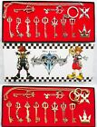 Kingdom Hearts 2 II Keyblade Keychain Pendant Necklace Set Box 12pcs Collection