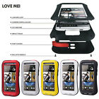 Love Mei Dust&Shock&Waterproof Aluminum Metal Gorilla Glass Case For HTC One M7