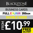 BUSINESS CARDS - 350GSM - DOUBLE SIDED - FULL COLOUR - FROM £10.99