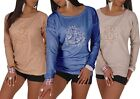 New Ladies Top Heart Design Tunic Jumper Womens  4-Colors One-Size Fast Desp #41