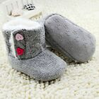 Baby boots boy girl gray snow winter Soft bottom Shoes Suit for0-6-12-18Mth