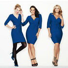 Avon Body Illusion Blue Wrap Dress ~ Choose Your Size ~ New
