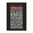 Biffy Clyro Reading Festival 25th August 2013 Set List Poster, A4 & A3