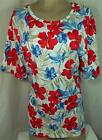 Liz & Me Womens Plus Size Shirt Top White Floral Blouse Size 0X 1X 2X 3X 6X New