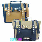 Anna Smith Womens LYDC Briefcase Stud Bow Girls Tote Bag Ladies Satchel Handbag