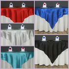 """72x72"""" Square SATIN Table Overlays Wedding Party Linens for 6 feet tables"""