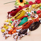 Handmade Mixed Coconut Shell Carved Leaf Beads Sea Shell Beads Necklace Options