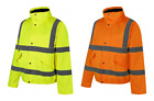 UCI VIZWELL Hi Vis Viz Waterproof Bomber Jacket Coat - Various Colours & Sizes