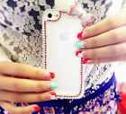 Luxury Bling Diamond Pink Bow Clear Case Cover For Apple iPhone 4 4S 5 5S 5C ZHZ