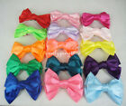 "1 Pair (2pcs) 3.7"" Big Hair Satin Bow Hair Clips Girl's Hairpin SP-629"