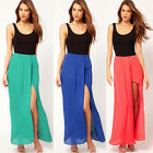 Summer Sexy Party Maxi Dress Ladies Sleeveless Boho Hippie Long Dress Size 8-16