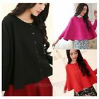 Women Casual Cardigan Knitwear Cape Cloak Knit Sweater Coat Jumper Outwear Tops