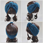 Flower Bow Crochet Knit Knitted Headwrap Headband Ear Warmer Hair Head