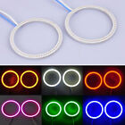2x60mm 66LED COB Car Angel Eyes Headlight Halo Ring Decorative Light 6Colors R45