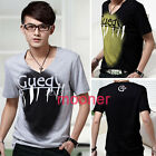 NEW Casual Summer Men's Shirt Stylish Slim Short Sleeve Fit Checked T-Shirts Top