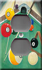 Light Switch Plate Cover - Billiards game play model 1 - Pool table stick baton