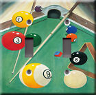 Light Switch Plate Cover - Billiards game play model 1 - Pool table stick baton $6.99 USD on eBay