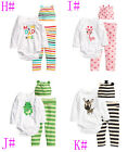 Baby boy girl baby clothes Baby climb clothes three-piece suit jumpsuit 6-24 mth