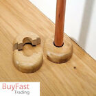 2 x 16mm Light Colour Wooden Wood Radiator Pipe Collars Cover Floor