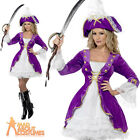 Sexy Pirate Beauty Costume Purple Ladies Lady Fancy Dress Outfit New UK 8-18