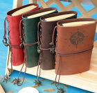 Vintage PU Leather Pirate Notebook Blank Journal Diary Travel Nautical UK#