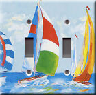 Light Switch Plate Cover - Nautical sailing boat - Naval maritime marine water