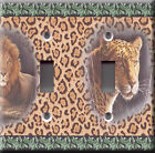 Light Switch Plate Cover - Wild animals - Lion tiger skin jungle primitive feral