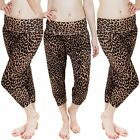 Love My Fashions 3/4 Length Leopard Print Ali Baba Trouser Leggings Size S M L