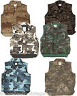 PADDED BODYWARMER MULTI POCKET ARMY MOUNTAIN VEST FISHING HUNTING SHOOTING CAMO