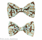 Airplanes Clip On Bow Tie Men or Boys Sizes