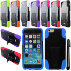 For Apple iPhone 6 4.7 inches KICKSTAND HYBRID HARD Protector Case Cover + Pen