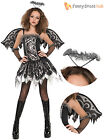 Age 12- 16 Teen Fallen Angel Girls Halloween Fancy Dress Party Costume Childrens