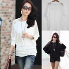 1PC Dolman Lace Women's Batwing Top Loose T-Shirt Blouse Top Long Sleeve