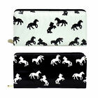 Ladies Ella Zip Around Purse with Horse Pattern in Black or White - 72800