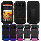 RUGGED HYBRID CASE & BELT CLIP HOLSTER COVER FOR ZTE WARP SYNC N9515