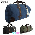 Mens Crosshatch Designer Cotton Gym Barrel Bag Boys Duffle Luggage Holdall Bag