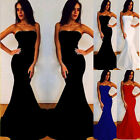 New Sexy Women Prom Ball Cocktail Party Dress Formal Evening Strapless Long Gown