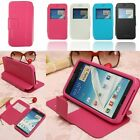 Magnetic Window Flip Leather Cover Case Stand For Samsung Galaxy Note 2 II N7100
