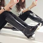 Womens Fashion Pointed Toe Zipper Rock Knight Knee High Riding Boots Shoes New