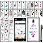 For LG Optimus L9 P769 Cute Design PATTERN HARD Protector Case Phone Cover + Pen