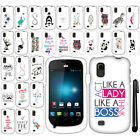 For ZTE Avail 2 Z992 Cute Design PATTERN HARD Protector Case Phone Cover + Pen