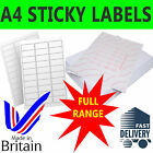 LABELS - SELF ADHESIVE STICKY A4 ADDRESS LABELS INKJET LASER COPIER PRINTER PEEL