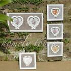 Vintage Style White Wash Photo Frame Floral Heart Decoraton Picture Photo Frame